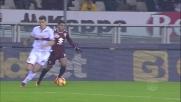 Finta e contro finta, poi sinistro a lato di Iago Falque contro il Genoa
