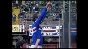 Flachi indiavolato, segna il goal del pareggio della Sampdoria sull'Udinese