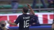 Flamini ringrazia Ibrahimovic per l'assist e realizza il goal del 2-0 a Bari