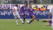 Flamini vicino al goal contro la Fiorentina. La traversa gli dice di no
