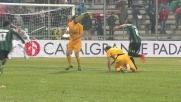 Flipper tra i due giocatori del Verona Moras e Donadel