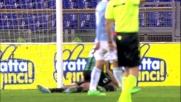 Floccari anticipa la difesa della Lazio e realizza il goal dell'ex all'Olimpico