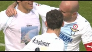 Floccari chiude in goal un contropiede da manuale della Lazio