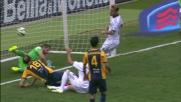 Floro Flores prova a riaprire il match contro il Verona con un goal di rapina