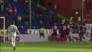 Floro Flores salta più in alto di tutti e segna il goal del vantaggio del Genoa