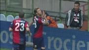 Floro Flores scatta sul filo del fuorigioco e segna il goal del momentaneo pareggio al Marassi