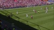 Floro Flores tenta la conclusione da fuori contro l'Inter