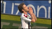 Floro Flores tocca il palo contro il Bari
