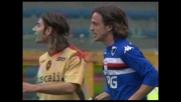 Franceschini pareggia i conti in Sampdoria-Cagliari con un goal di testa