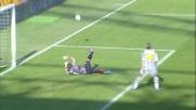 Frey respinge di piede il tiro pericoloso di Pepe