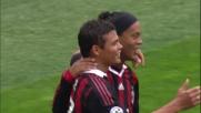 Thiago Silva sfrutta al meglio il cross di Pirlo: Milan avanti all'Olimpico sulla Lazio