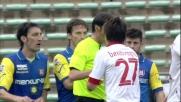 Fernandes sbilancia Bentivoglio in area: rigore per il Bari al San Nicola!