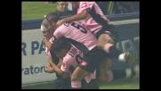 Mutarelli segna il goal del vantaggio del Palermo sul Livorno