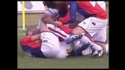 Goal di testa di Konko in Palermo-Genoa