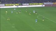 Callejon di prima intenzione calcia a lato contro il Milan