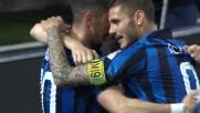 Jovetic segna il suo secondo goal contro l'Udinese con un colpo di petto