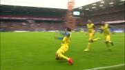 Il goal di Paloschi porta avanti il Chievo Verona a Marassi