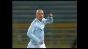 Goal di testa di Rocchi sulla punizione di Ledesma, è l'1-0 della Lazio sul Catania