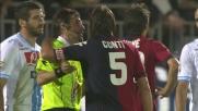 Gamberini anticipa gli avversari, ma rischia l'autogoal: palo del Cagliari