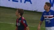 Gastaldello anticipa in tackle Criscito recuperando palla nel derby della Lanterna