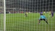 Neto chiude la porta sul tiro di Honda in Fiorentina-Milan
