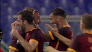 Il goal di testa di De Rossi porta la Roma sul 2-0 con l'Empoli