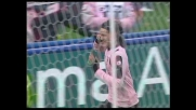Magia di Cavani che da fuori area segna il goal della sicurezza per il Palermo