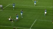 Ghoulam sgambetta Widmer in area: secondo rigore per l'Udinese contro il Napoli