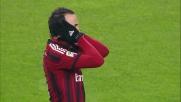Gianluigi Buffon blocca Pazzini con una delle sue solite parate d'istinto