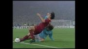 Giannichedda furioso su Delvecchio, fallo nel derby di Roma