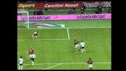 Gilardino chiude con il quarto goal del Milan la sfida col Messina
