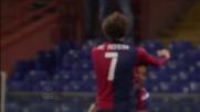 Gilardino esulta nel silenzio per il goal del vantaggio del Genoa