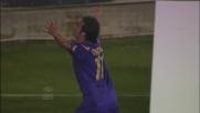 Gilardino sfrutta il lavoro di Ljajic e porta in vantaggio la Fiorentina sul Bari