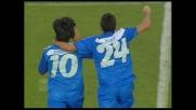 Goal di Vannucchi contro la Lazio: stop e tiro imparabile da fuori area