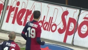Goal del pareggio di Thiago Ribeiro in Cagliari-Palermo