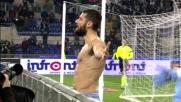 Goal del raddoppio per Candreva dagli 11 metri contro la Fiorentina