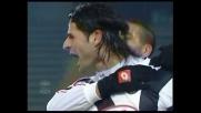 Goal del vantaggio di Iaquinta per l'Udinese contro la Reggina