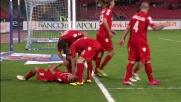 Goal di Acquafresca, il Cagliari pareggia a sorpresa a Napoli