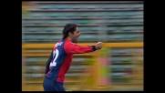 Goal di Borriello dagli undici metri e il Geona raggiunge la Lazio sull'1-1