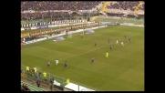 Goal di Fini per il momentaneo 1-1 del Cagliari con la Fiorentina
