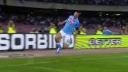 Goal di Hamsik per l'1-0 del Napoli contro l'Udinese