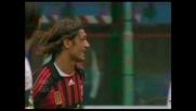 Goal di Maldini che accorcia le distanze contro l'Atalanta
