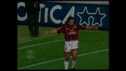 Goal di Roberto Baggio che sfrutta l'assist di Eranio e salta il portiere del Verona