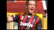 Goal di testa di Ambrosini che vale al Milan il pareggio contro il Bologna