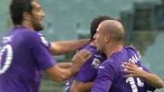 Goal di testa di Gonzalo Rodriguez contro il Cagliari