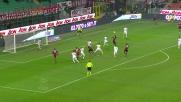 Goal di testa di Zapata contro la Roma