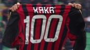 Goal numero 100 di Kakà con il Milan in Serie A