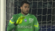 Goal su punizione diretta di Biglia, la Lazio in vantaggio a Bergamo