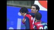 Goal su rigore di Milito che spiazza Frey in Genoa-Fiorentina