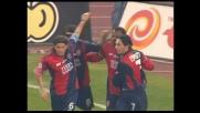 Gobbi colpisce la Lazio realizzando il goal del pari per il Cagliari